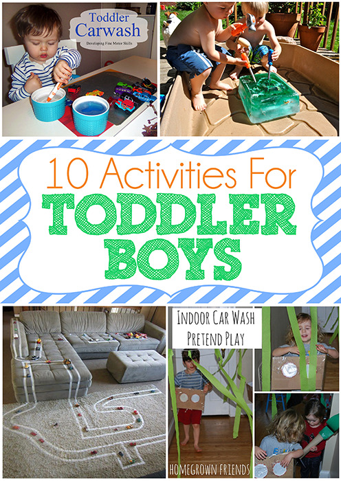 10 activities and crafts for toddler boys www.iheartartsncrafts.com