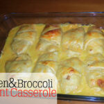 Chicken and Broccoli Crescent Casserole Recipe www.iheartartsncrafts.com