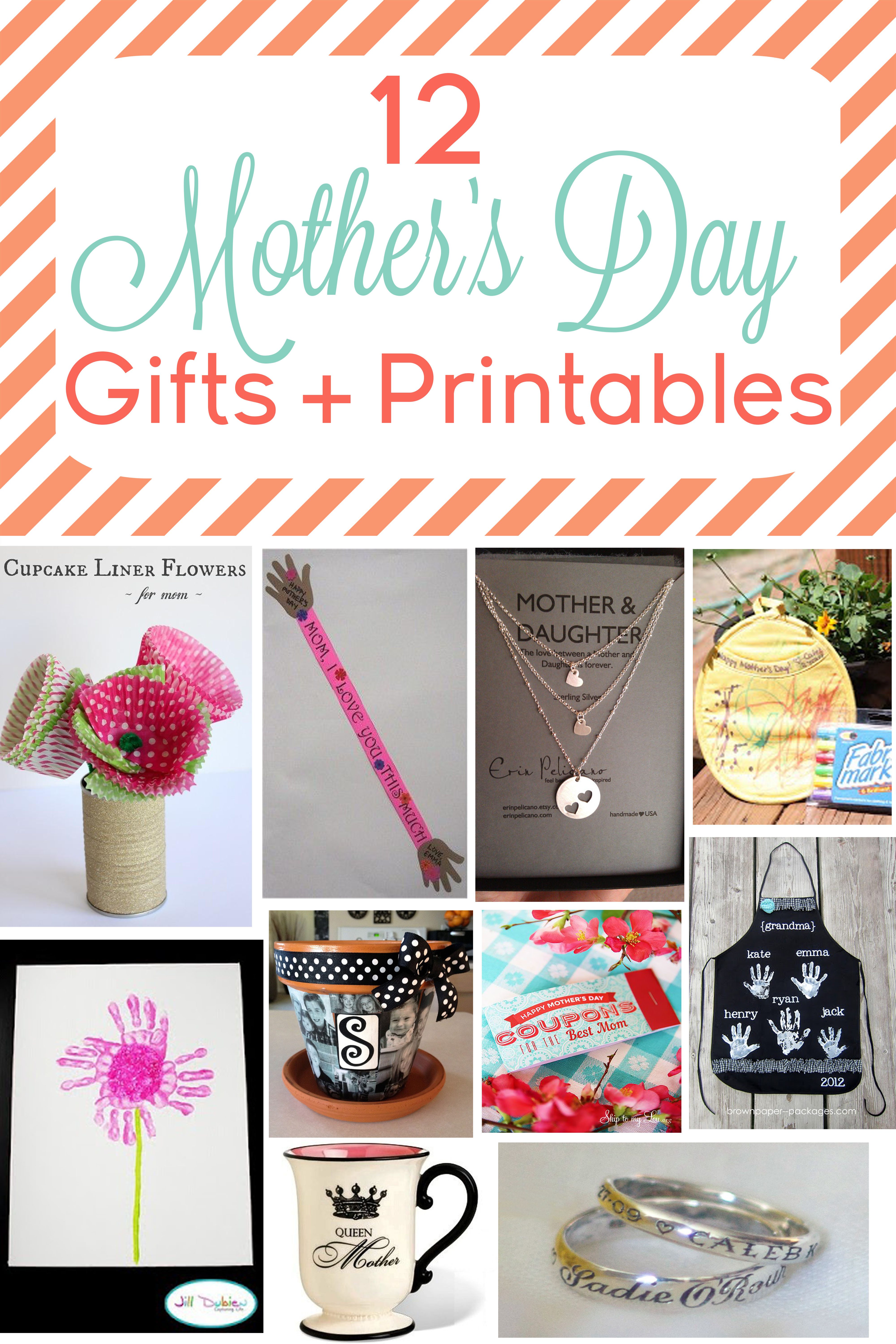 12 mother 39 s day gifts printables for Craft gifts for mom