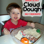 Toddler Cloud Dough Sensory Activity Recipe www.iheartartsncrafts.com