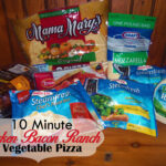 Ten Minute Chicken Bacon Ranch Vegetable Pizza