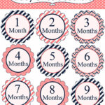 Free 12 Month Onesie Printable for Babies www.iheartartsncrafts.com