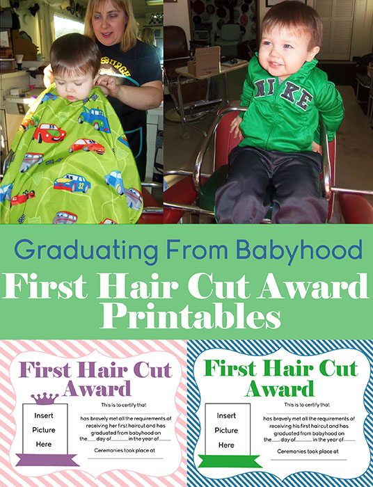 Free First Hair Cut Award Printables