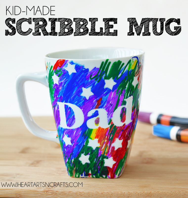 Father S Day Kid Made Scribble Gift Mug