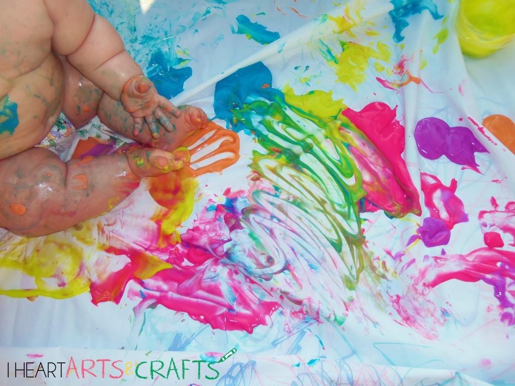 Edible Neon Finger Paints