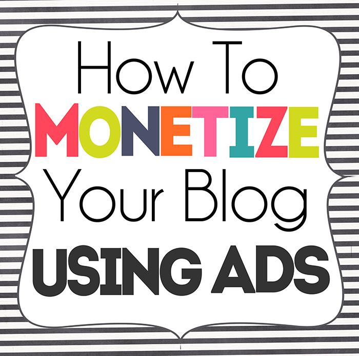 How To Monetize your Blog With Ads www.iheartartsncrafts.com