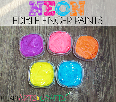 Neon edible finger paint toddler activity for Craft paint safe for babies