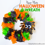 Halloween Paper Plate Wreath Kids Craft