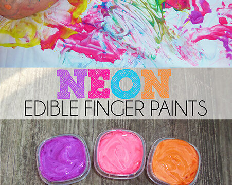 Neon Taste Safe Finger Paint Baby Activity