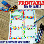 Toy Bin Labels | Print & Customize With Sharpie
