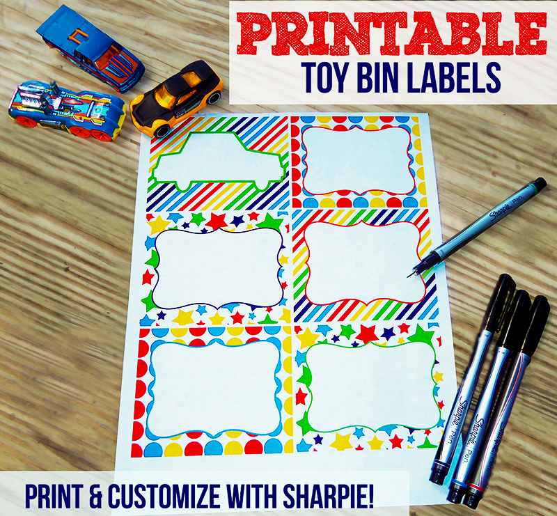 Free Printable Toy Bin Labels | Print and Customize with Sharpie!