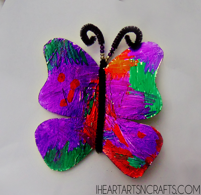 Easy Aluminum Foil Butterfly Craft