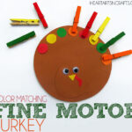 Color Matching Fine Motor Turkey Toddler Activity