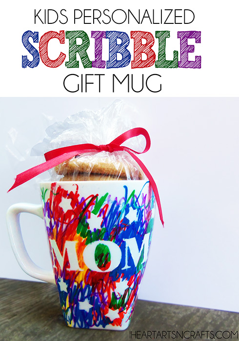 Personalized Scribble Mug Gift - I Heart Arts & Crafts