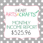 October Income/Analytics Report for I Heart Arts n Crafts