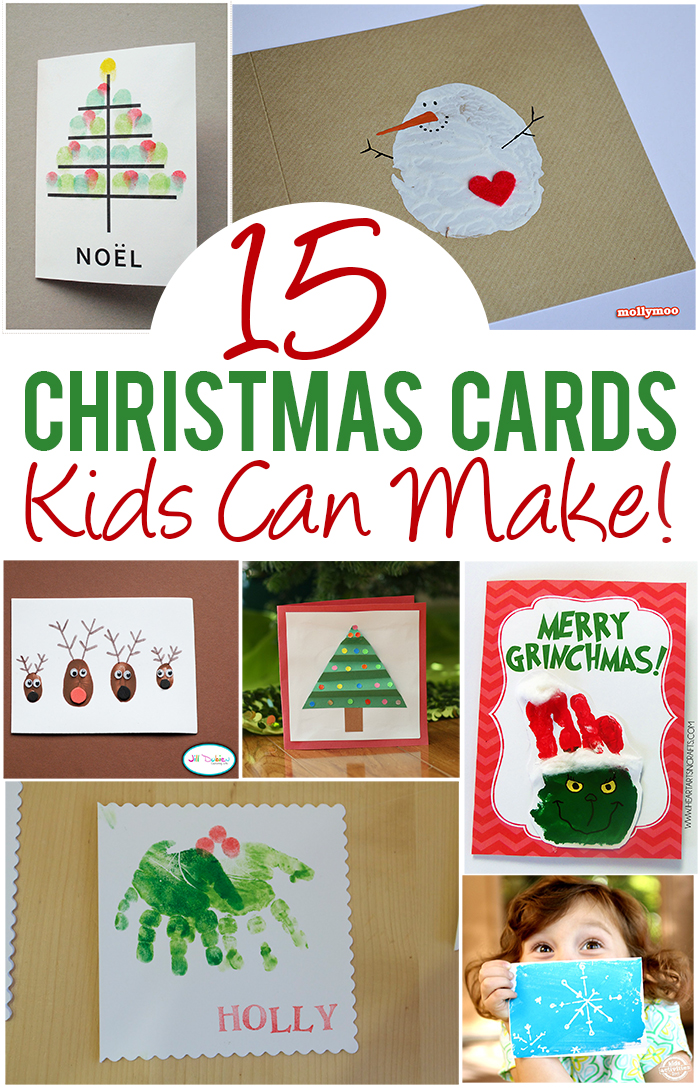 Christmas Cards Craft Ideas Part - 40: 15 Christmas Cards Kids Can Make!
