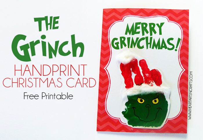 http://www.iheartartsncrafts.com/the-grinch-handprint-christmas-card-with-printable/