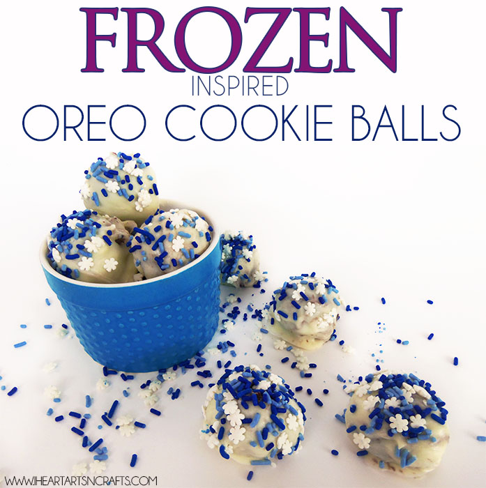 Easy and delicious Frozen Inspired OREO Cookie Balls #OREOCookieBalls #ad