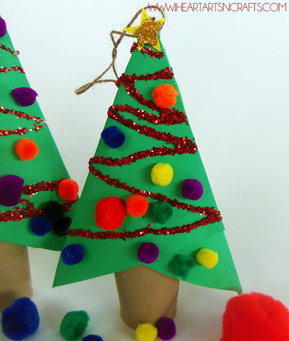 Diy cardboard tube christmas ornament kids craft for Arts and crafts christmas decoration ideas