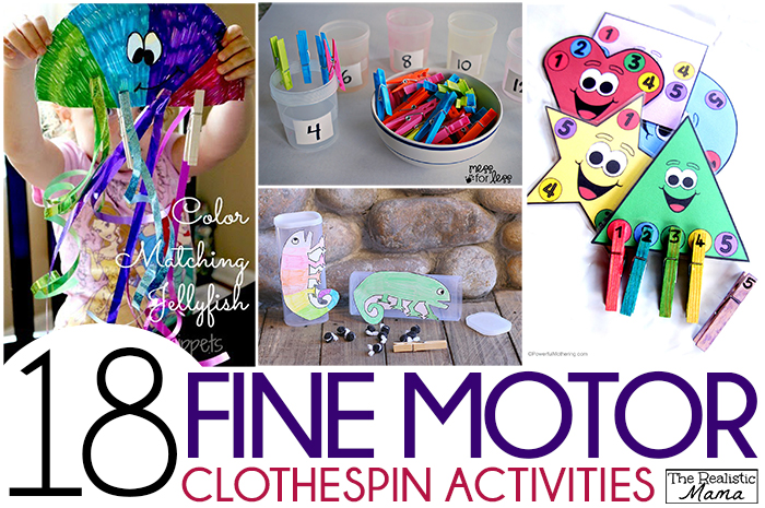 18 clothespin activities for fine motor skills the for Four year old fine motor skills
