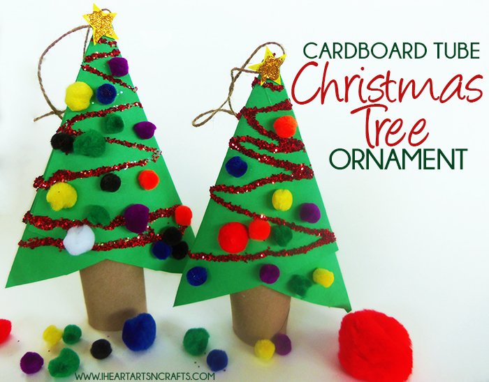DIY Cardboard Tube Christmas Ornament Kids Craft