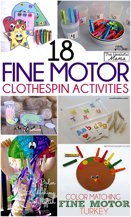 18 Fine Motor Clothespin Activities