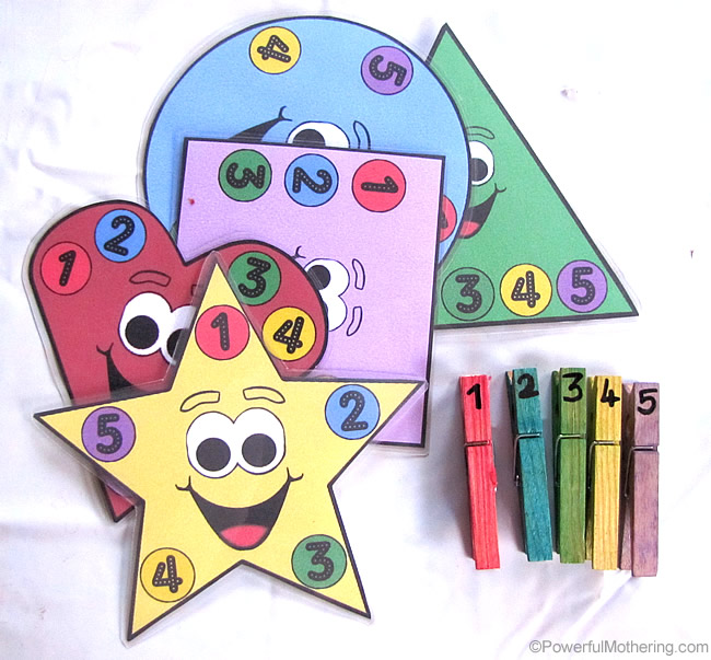 Printable Shapes To Promote Counting