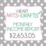 November Income Report – $2653.05