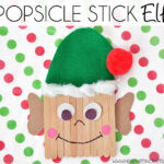 Easy Popsicle Stick Elf Kids Craft