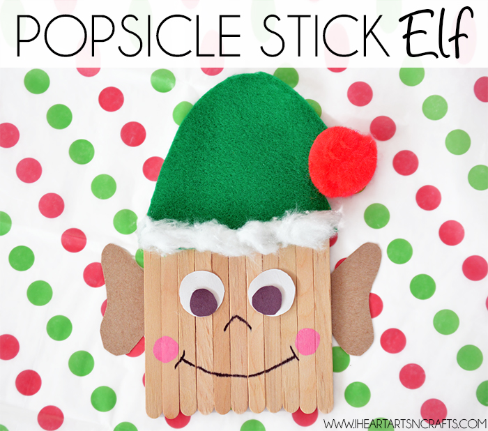 Easy diy popsicle stick elf kids craft for Elf crafts for kids