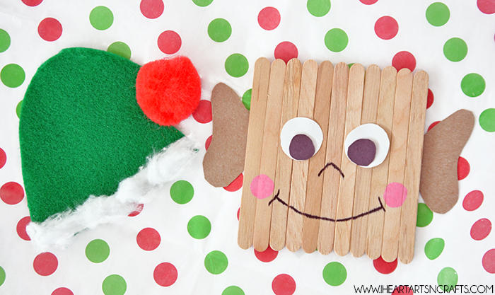 Easy Popsicle Stick Elf Kids Craft