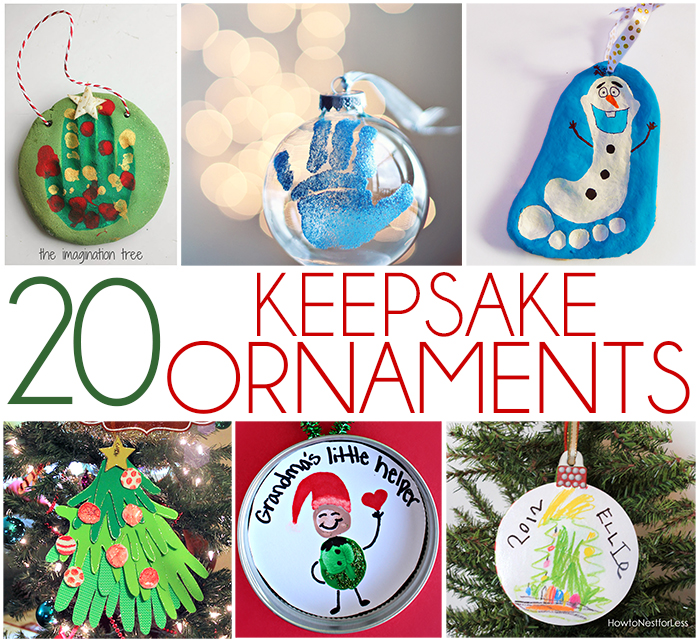 20 keepsake ornaments for kids to make - Cute Homemade Christmas Decorations
