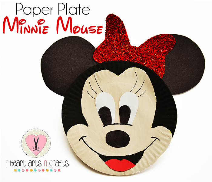 Paper Plate Minnie Mouse Kids Craft  sc 1 st  I Heart Arts n Crafts & Paper Plate Minnie Mouse Kids Craft - I Heart Arts n Crafts