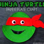 Ninja Turtle Paper Plate Kids Craft