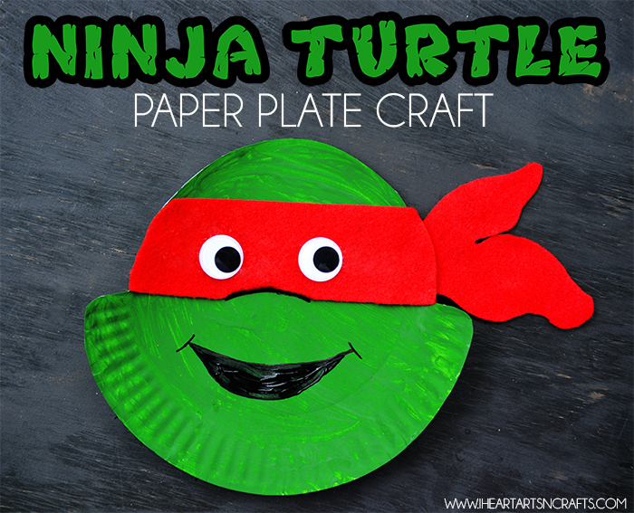Ninja Turtle Paper Plate Craft & Ninja Turtle Paper Plate Kids Craft - I Heart Arts n Crafts