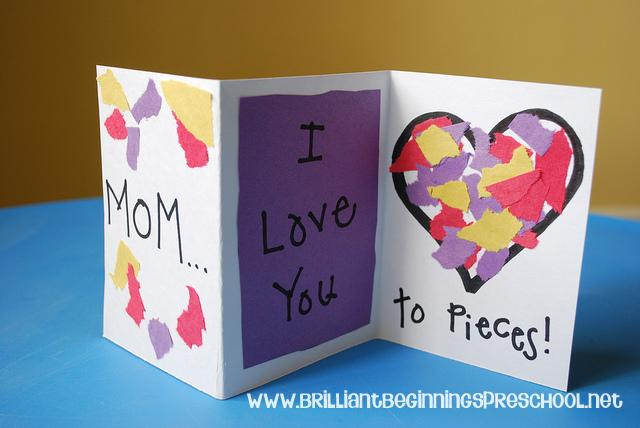 20 homemade toddler valentines i heart arts n crafts ForMothers Day Cards From Preschoolers