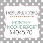 December Income Report – $4045.70