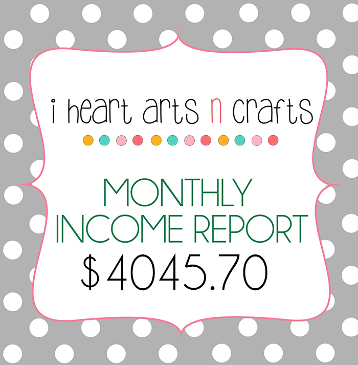 I Heart Arts n Crafts December Traffic/Income Report