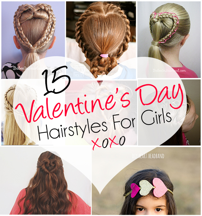 Fantastic 15 Adorable Valentine39S Day Hairstyles For Girls I Heart Arts N Short Hairstyles For Black Women Fulllsitofus
