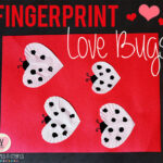 Fingerprint Love Bugs Easy Valentine's Day Kids Craft