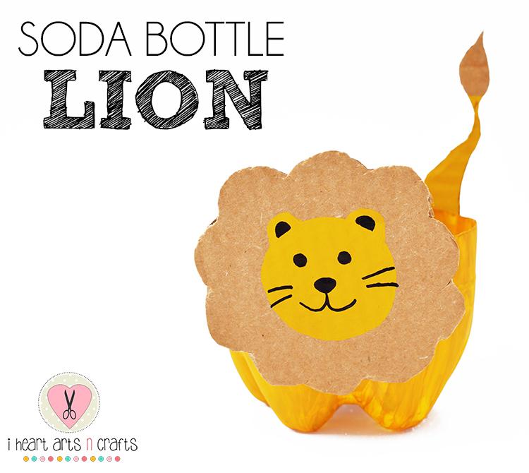 Soda Bottle Lion Craft