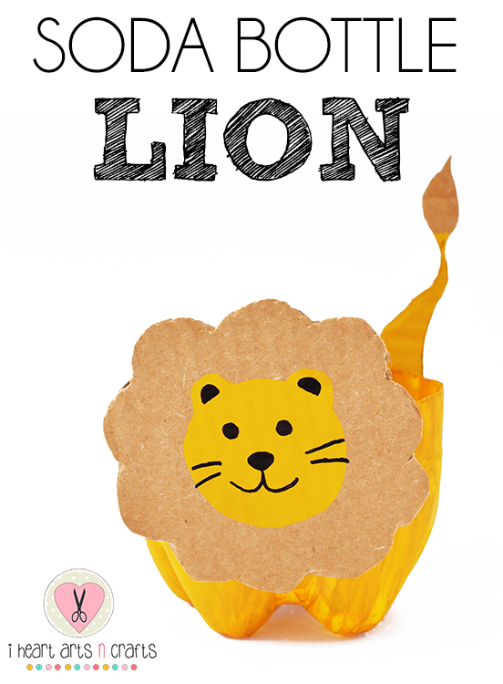 Soda Bottle Lion Craft