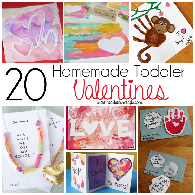 20 homemade toddler valentines i heart arts n crafts for Valentines day toddler crafts