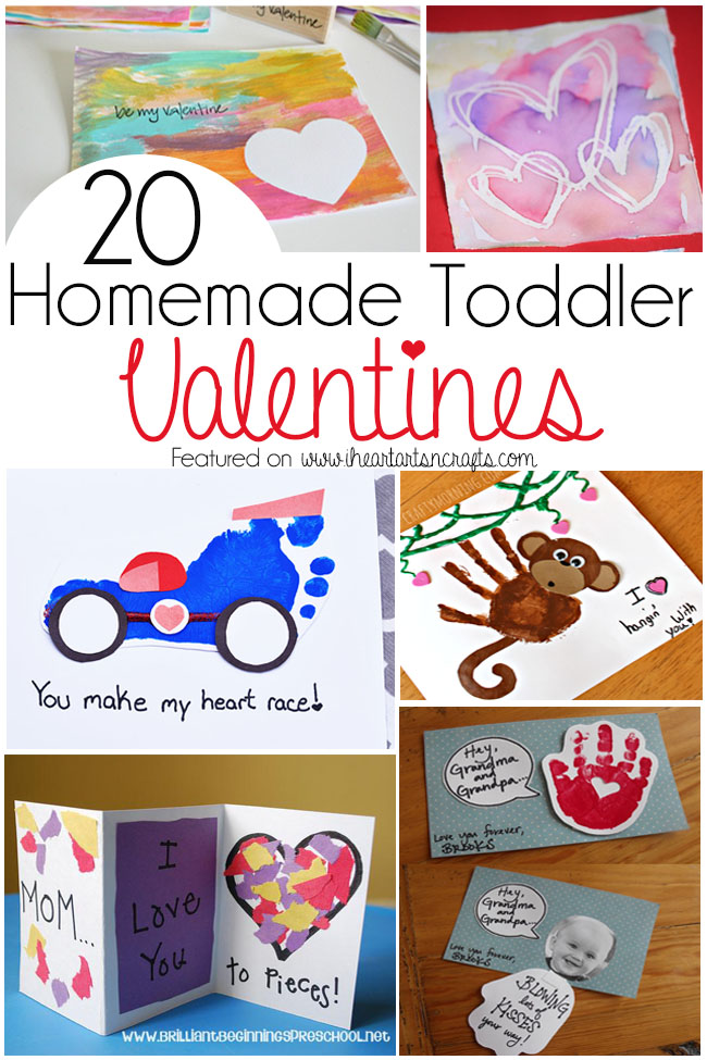 20 Homemade Toddler Valentines