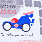 Footprint Race Car Valentine Craft