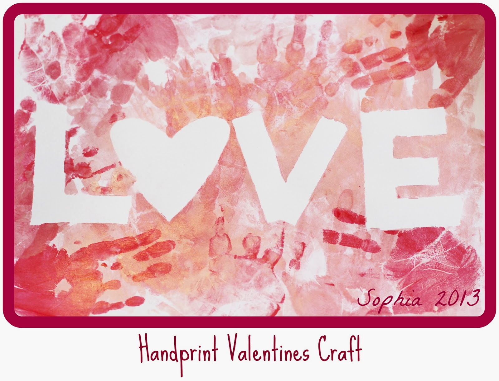 Handprint Valentines Craft U2013 From Orchard Girls