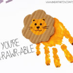 """You're A-rawr-able"" Handprint Lion Card"