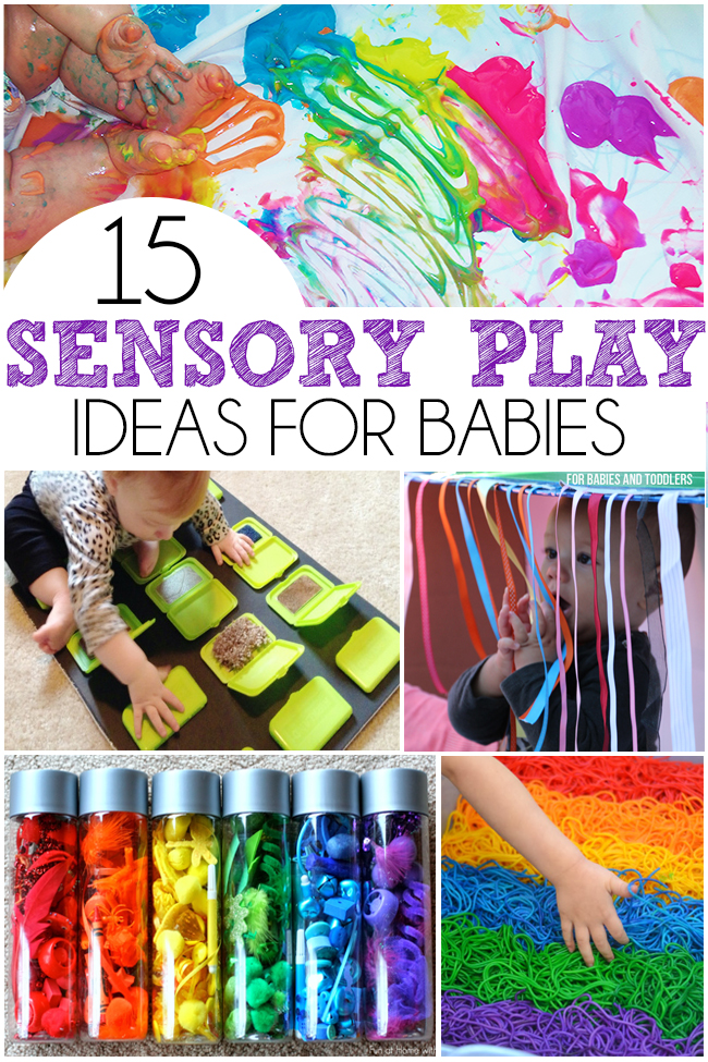 15 sensory play ideas for babies i heart arts n crafts for Craft paint safe for babies