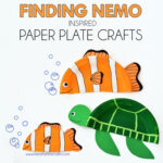 Finding Nemo Inspired Paper Plate Crafts