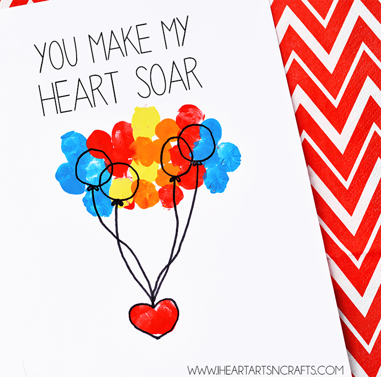 """You Make My Heart Soar"" Fingerprint Card - I Heart Arts n ..."